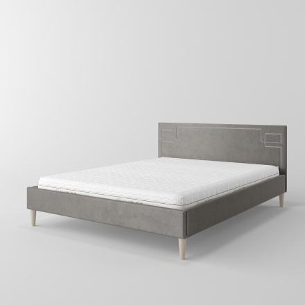 łóżko tapicerowane z ćwiekami - 6