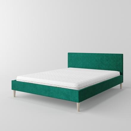 łóżko tapicerowane pikowane w karo - 2