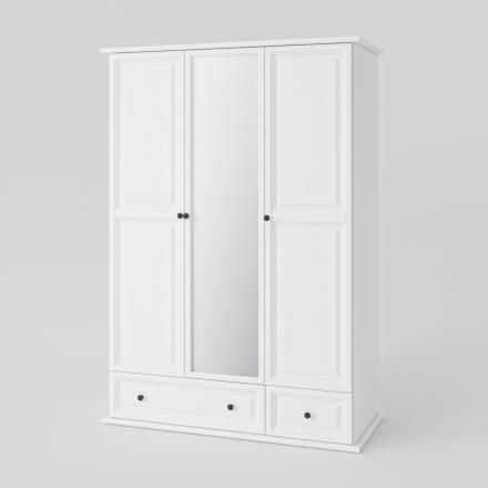 Biała szafa trzydrzwiowa - Szafy Drewniane