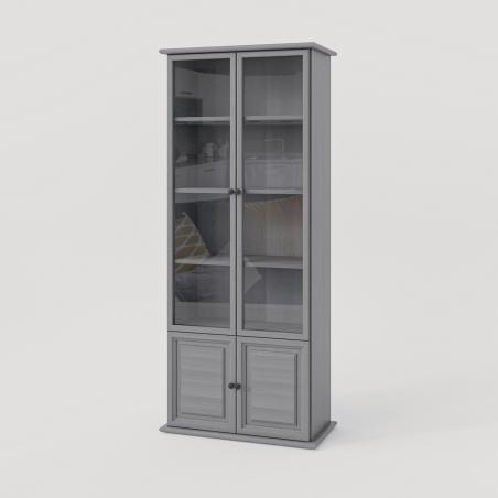 Biała witryna - Witryny Drewniane