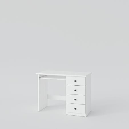 Białe biurko - Biurka Drewniane
