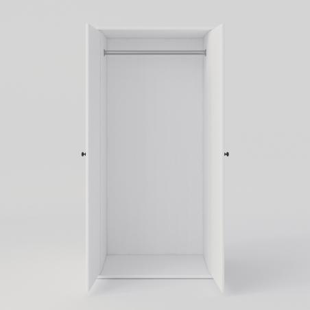 Biała szafa dwudrzwiowa - Szafy Drewniane