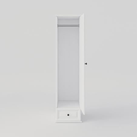 Biała Szafa jednodrzwiowa - Szafy Drewniane